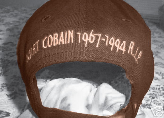 <p>User hempskool said: &quot;RARE! Vintage NIRVANA baseball cap.. TRIBUTE TO KURT (November 29, 2007) I got this at a memorial service at the park beside Kurts' house in Seattle days after his death in April of 1994. This cap has tremendous sentimental value for me, should only be worn by a die hard Nirvana fan!&quot;</p>
