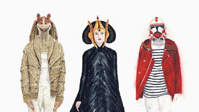 Darth Vader And Jar Jar Binks Try On Spring's Hottest Fashions
