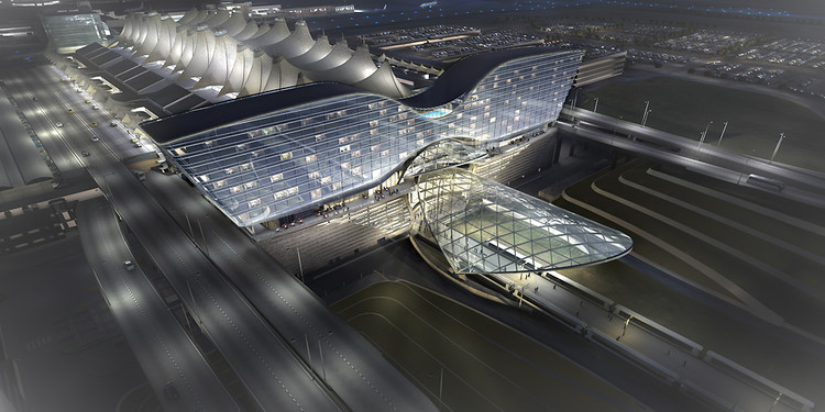 <p>Rendering of the new Denver International Airport.</p>