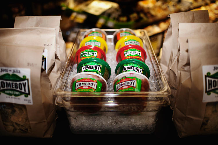 <p>You can now find Homeboy-branded chips and salsa at Ralph's stores in Los Angeles. Sales could generate $500,000 in revenue for Homeboy this year.</p>