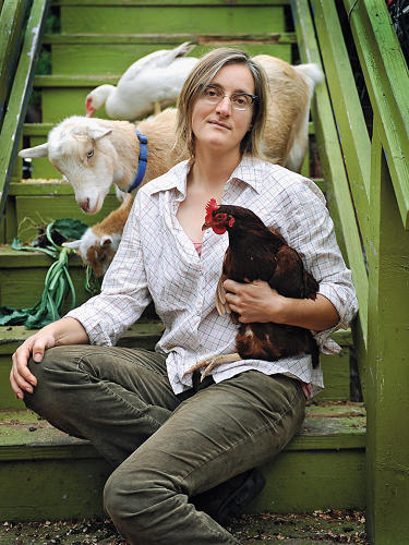 <p>In late 2009, Novella Carpenter traveled to Brooklyn to teach a workshop on butchering rabbits. Participants paid $100 each and went home with the main ingredient for a fine meal. <em>The New York Times</em> ran a long feature on the event, accompanied by recipes for rabbit ragù and rabbit loin with bitter greens. Afterward, Carpenter flew back to her hometown of Oakland, California, with the satisfaction of having trained a few more local food loyalists in the hard-core art of butchery.</p>  <p>It didn't take long, though, for the pleasant memory of her trip to be clouded by hate mail, which poured in from vegetarians and animal rights activists, who were outraged at the thought of urbanites slaughtering rabbits as a weekend diversion. What the commenters and letter writers may not have realized is that for Carpenter, this is not a hobby. On days when she's too tired for hard labor, she doesn't simply drive to Whole Foods and purchase meat for dinner. She tends daily to rabbits, goats, chickens, ducks, bees, and at one time, a pair of hefty pigs. At the end of the day, she cooks food she has raised or grown. Carpenter is a farmer—she lives off her land.</p>