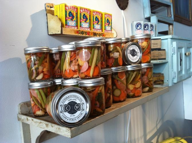 <p>Pickled good at Piper and John.</p>