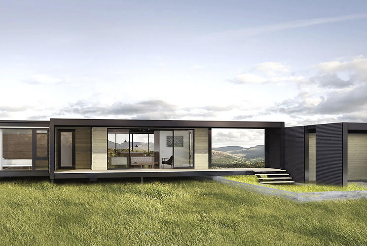 These Gorgeous Sustainable Pre Fab Houses Fit In A Shipping Container Co Exist Ideas Impact