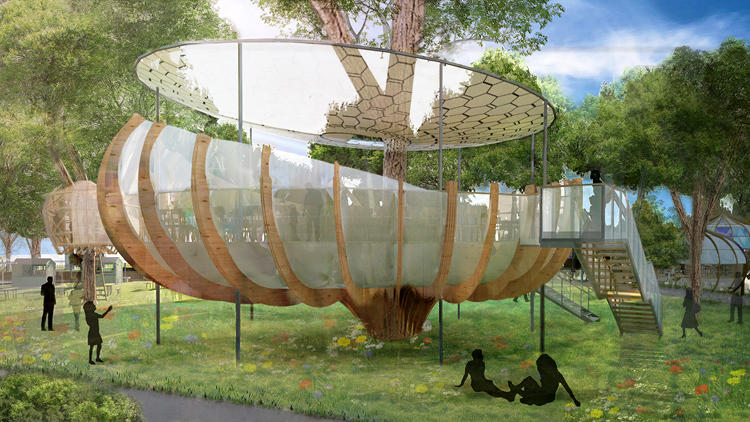 "<p>A London-based company called Invisible Works hopes to fill a park in central London next year with semi-permanent ""biomimetic"" infrastructure that would enable live music shows, restaurants, movie screenings, and other multimedia productions.</p>"