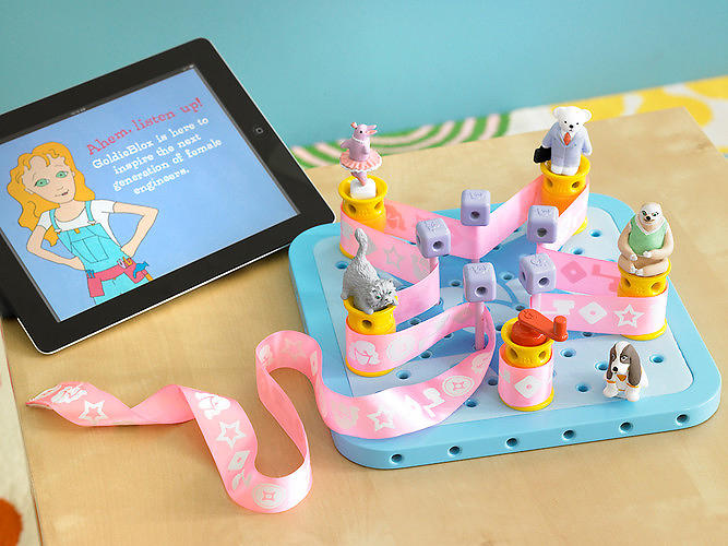 <p>GoldieBlox, a &quot;crazy engineering house,&quot; chock full of moving parts and gears.</p>