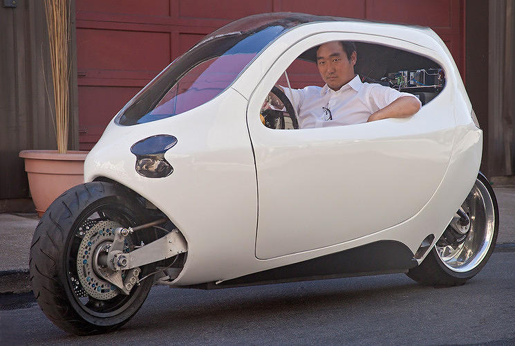 <p>The Lit C-1 doesn't look like any car you've ever seen, but it still can go 120 miles per hour and gets 200 miles on each charge. <a href=&quot;http://www.fastcoexist.com/1680779/can-a-mutant-electric-half-car-half-motorcycle-disrupt-the-vehicle-market&quot; target=&quot;_self&quot;>Will people embrace the futuristic design</a> enough to make the startup a success?</p>