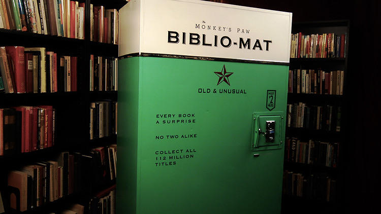 <p>Installed at the Monkey's Paw bookstore in Toronto,<a href=&quot;http://www.fastcoexist.com/1680989/this-vintage-looking-vending-machine-disepenses-rare-books-for-just-2&quot; target=&quot;_self&quot;> the Biblio-Mat offers book lovers a little randomness for their next read</a>--at a cost of just $2 for a rare book.</p>