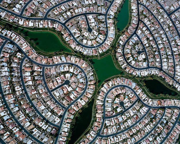<p>Suburban sprawl can be ugly on the ground, but <a href=&quot;http://www.fastcoexist.com/1680461/the-hidden-beauty-of-suburban-sprawl&quot; target=&quot;_self&quot;>Christopher Gielen's aerial photographs demonstrate its beauty, and why it's inherently unsustainable</a>.</p>