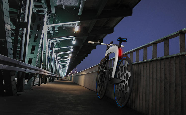 <p>The bike can also supposedly fold up in just two seconds.</p>