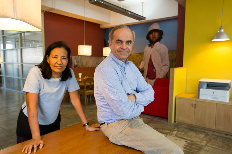 <p>Debbie Aung Din and Jim Taylor: Founders, Proximity Designs</p>