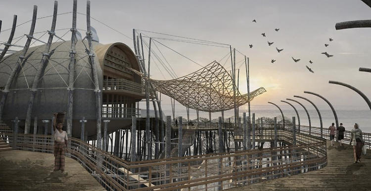 <p>Kogami has created a design for a prototype scheme for the Sumatran city of Padang--a place under heavy threat from tsunamis.</p>