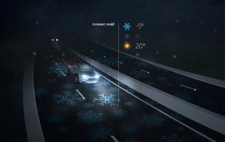 <p>This prototype for a new &quot;smart highway,&quot; designed by Dutch studio Roosegaarde, can change its appearance using lights embedded in the road surface.</p>