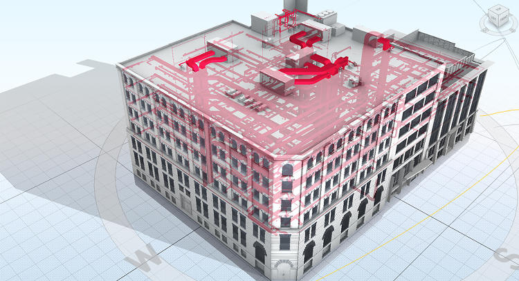 <p>In an Autodesk building in Toronto, there are two sub-meters per floor in the six-floor structure, along with individual meters at certain power outlets, so that the company can visualize how power use breaks down.</p>