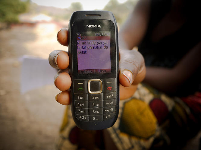 <p>A mother describes her last visit to her clinic in the local Hausa language. Messages like hers are collected, analyzed, and sent, in real-time, to the relevant government agencies to integrate into their planning and operations.</p>