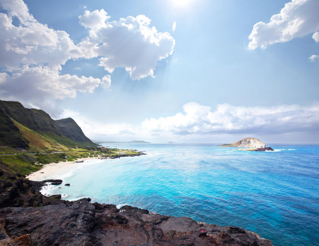 <p>The 10 happiest states in the U.S.: 1. Hawaii</p>