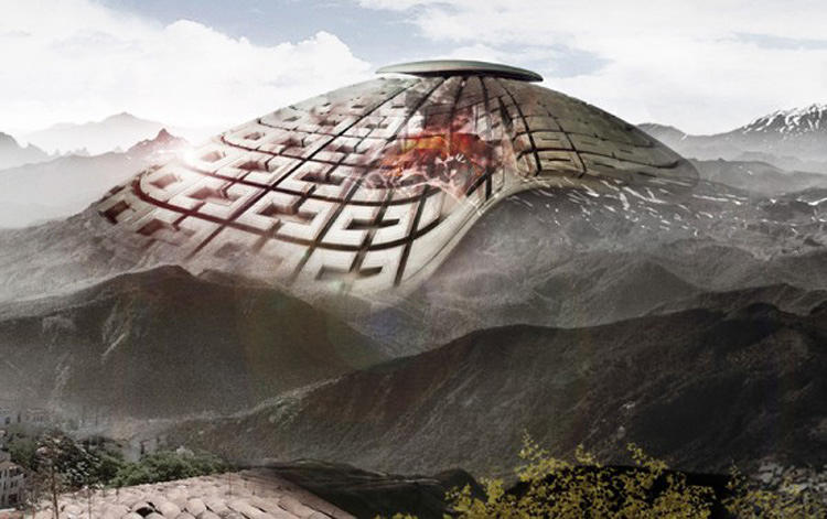 <p>The Volcano Skyscraper, an honorable mention, consists of a structure on top of Mexico's  Popocatepetl Volcano that harnesses lava and other debris to create energy. The project was created by Jing Hao, Zhanou Zhang, Xingyue Chen, Jiangyue Han, and Shuo Zhou.</p>