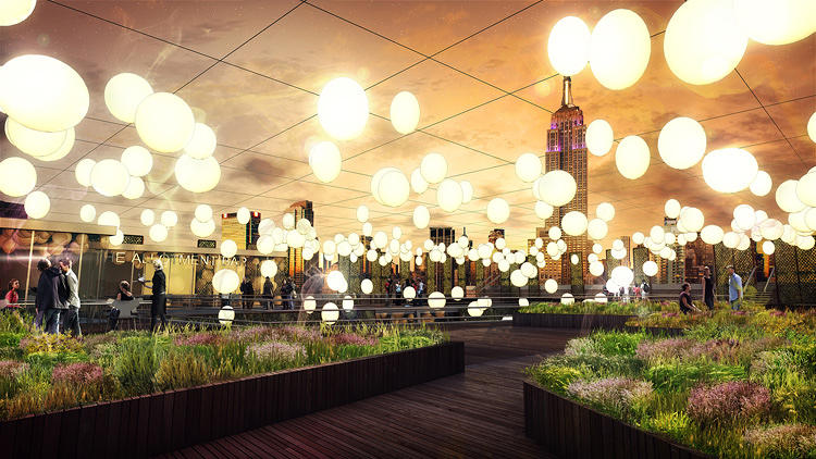 <p>Dutch designer Dean Moran created this concept hotel that includes a market, restaurant, rooftop garden, mini-greenhouses, and several other food-related elements.</p>