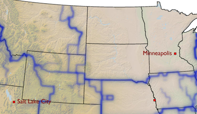 <p>All of the upper midwest is one unit.</p>
