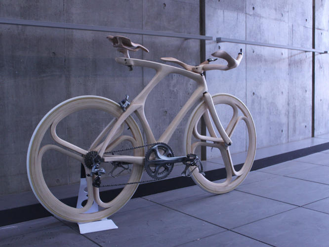 <p>He's an industrial design student in Tokyo who created the bike for his final project before graduation.</p>