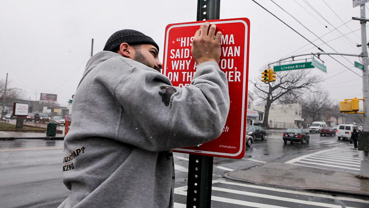 <p>Artist Jay Shells new project is to put up faux street signs at places referred to in hip hop lyrics. Captured by Animal New York, click through for some of our favorites.</p>