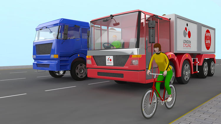 <p>It features a lower driving position to improve driver awareness of cyclists (in normal trucks, cyclists can be virtually invisible).</p>