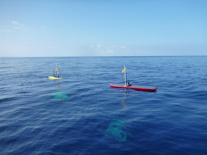 <p>The Liquid Robotics wave glider is a surfboard-size autonomous boat. The company just announced the newest version, which is even more powerful.</p>