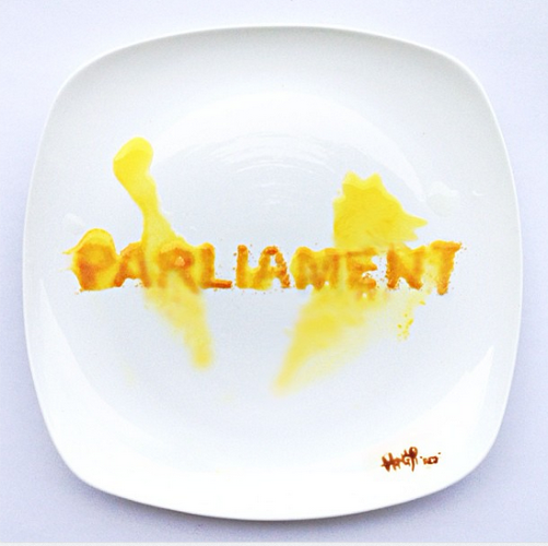 <p>&quot;Day 26: The Malaysian parliament has dissolved! Malaysia, let's make wise choices for the upcoming 13th general election! I'll be traveling to the States but will def be coming back to vote! Made of Tang orange powder dissolved in water&quot;</p>