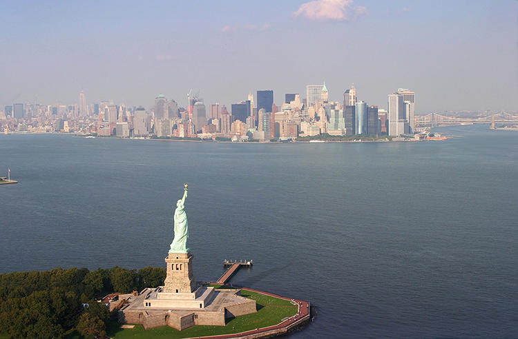 <p>The Statue of Liberty now.</p>