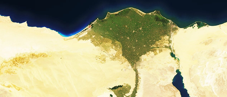 <p>These amazing satellite images are from MapBox's Cloudless Atlas project. We've included descriptions from MapBox's Charlie Loyd: &quot;The Nile delta, a very fertile region in the middle of very unfertile regions, contains half of Egypt's population. Almost all its available land is used intensively, for farming cotton, rice, sugar cane, and other crops. However, there are serious concerns about sea level rise.&quot;</p>