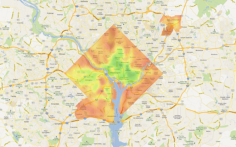 <p>6: Washington, D.C. (Bike Score: 65.3)</p>