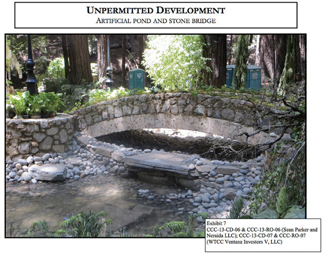 <p>Why bother with nature when you can illegally improve it with faux-antique stone bridges?</p>