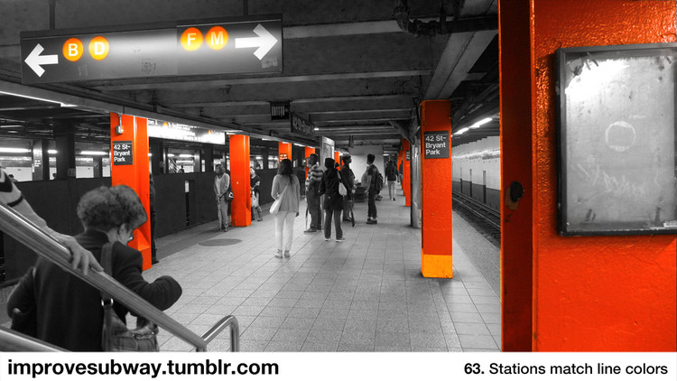 <p>The ideas range from the radical to the simple, like painting subway stations the color of the lines they service.</p>
