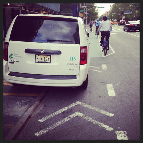 <p>&quot;Last week I was having a moody day, I got angry, and I decided to start taking pictures of cars,&quot; he says. &quot;Ultimately, what I would like to have is a better integration of New York City bike culture on the streets.&quot;</p>