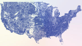A Stunning Map of Every American River