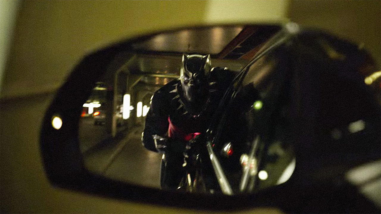 Image result for black panther car chase