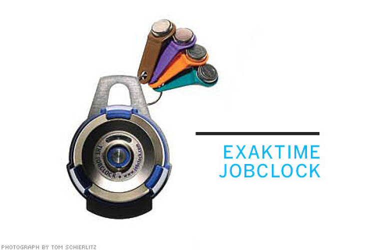 <p> <strong>From Stuart Karten Design:</strong> The Exaktime JobClock lets workers check in with magnetic tabs. Supervisors can keep tabs remotely.  </p> <p> <strong>From $1,000</strong>  </p>