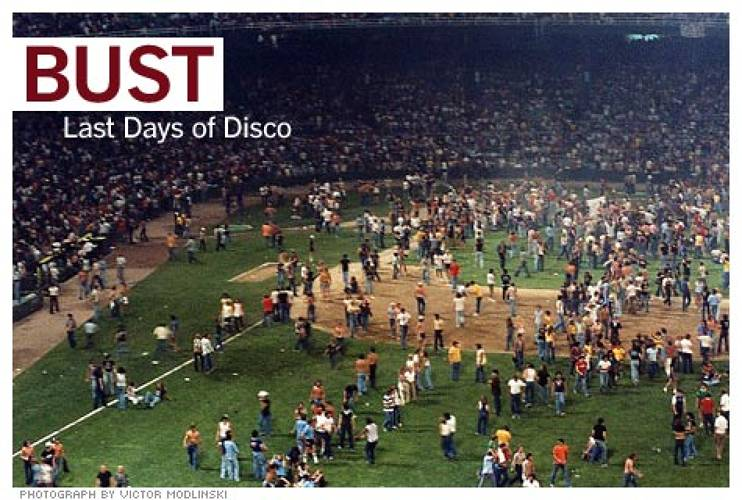 <p>In 1979, the Chicago White Sox staged a now-infamous &quot;Disco Demolition Night.&quot; Fans were urged to bring in vinyl disco LP records -- to be collected and blown up in between games -- in exchange for 98-cent admission to a double-header. Team management hoped to bring in 5,000 additional spectators, but 75,000 showed up. Many resorted to scaling walls and fences when turned away. After the first game, a local radio personality detonated the box of records with a bomb, and immediately spectators rioted onto the field, ripping up the bases, destroying the batting cages, and sending the players fleeing.<br /> <a href=&quot;http://www.fastcompany.com/articles/2008/11/marketing-stunts.html&quot; target=&quot;_new&quot; title=&quot;10 Outrageous Marketing Stunts&quot;>Read more</a></p>