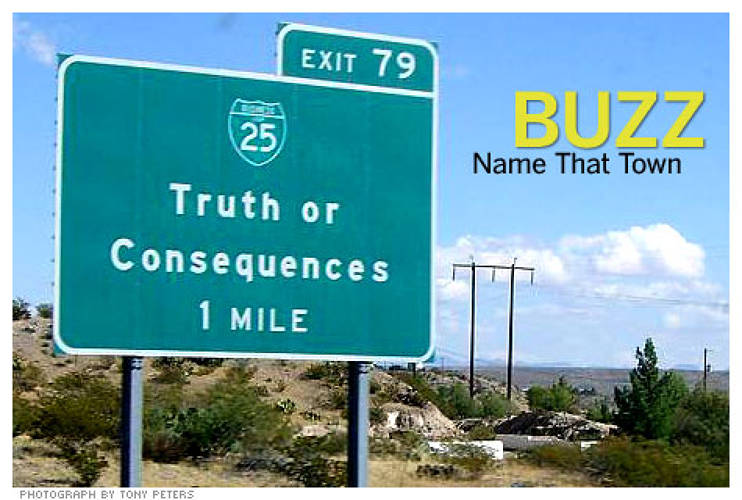 <p>In 1950, NBC's quiz show <em>Truth or Consequences?</em> was one of the most popular shows on radio. So when the show's host, Ralph Edwards, announced on air that he would broadcast from the first town willing to name itself after the show, he got a taker in New Mexico. Edwards made the town famous by returning the first weekend of May for the following 50 years. Today, New Mexicans affectionately call the town of 7,000 &quot;T or C.&quot;<br /> <a href=&quot;http://www.fastcompany.com/articles/2008/11/marketing-stunts.html&quot; target=&quot;_new&quot; title=&quot;10 Outrageous Marketing Stunts&quot;>Read more</a></p>