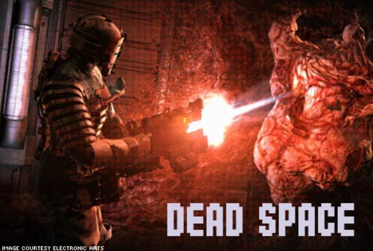 "<p>Dead Space is survival horror at its finest. Players take control of engineer Isaac Clarke who's investigating a lost spaceship when he's attacked by hideous monsters. It becomes a struggle for survival as Clarke searches for a way off a spaceship filled with fleshy, pulsing walls, and bloodthirsty creatures. Clarke is an engineer by trade, so don't expect many guns. Instead gamers can modify mining tools that dismember the baddies in a satisfyingly gory manner. Dead Space is dead on. For extra screams, try picking up the animated movie ""Dead Space: Downfall"" on DVD and the ""Dead Space"" comic book series.</p> <p>Price: $49.99 PC; $59.99 PlayStation 3, Xbox 360<br>  More Info: <a href=&quot;http://deadspace.ea.com/&quot; target=&quot;_new&quot;>Dead Space</a></br></p>"