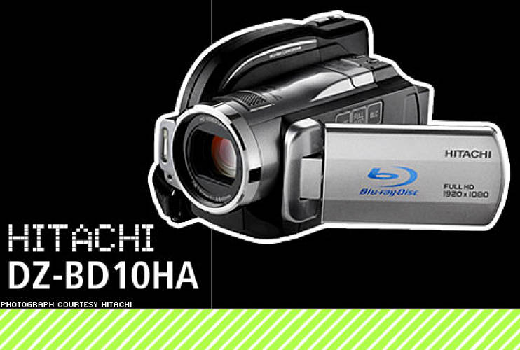 <p>High-definition camcorders produce magnificent video, but not everyone wants to use their computer in the home-movie process. If that's you, check out Hitachi's 3-way recording HD cam; it can burn video directly onto Blu-ray disc, store it on its integrated 30GB hard drive, or record to a high-capacity SD card. It sports full HD recording at 1920x1080 resolution with one-touch dubbing from hard drive to Blu-ray disc, as well as the ability to take 7-megapixel still shots. Convenient in-camera editing software is well-integrated, as is face-recognition functionality and image stabilization. If you haven't jumped on the Blu-ray bandwagon yet, the DZ-BD10HA can also burn DVDs.  </p> <p>Price: $1000<br>  More Info: <a href=&quot;http://www.hitachi.us/Apps/hitachicom/content.jsp?page=products/camcorders/blu-ray/details/DZBD10HA.html&level=4&section=products&parent=details&nav=left&path=jsp/hitachi/forhome/ubcg/ &quot; target=&quot;_new&quot;>Hitachi DZ-BD10HA 30GB Blu-ray/HDD/DVD Hybrid Camcorder</a></br></p>
