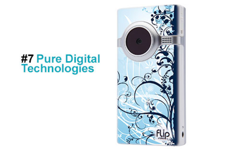 <p>Pure Digital Technologies has democratized video for the masses with its Flip digital video recorders. In just 18 months, the company has sold 1.5 million of its one-button camcorders and now commands 23% of that market. In October, it launched TheFlip.com, which allows buyers to customize cameras from a gallery of 1,000-plus designs, and in November, it released its 3.3-ounce Flip MinoHD. Revenue for 2008 is estimated at $150 million, up from $50 million in 2007. </p>  <p><a href=&quot;http://www.fastcompany.com/fast50_09/profile/list/pure-digital-technologies&quot; target=&quot;_new&quot; title=&quot;Pure Digital Technologies&quot;>-- Read the Full Profile</a></p> <p><strong>The Fast Company 50 Navigation:</strong><br /> <a href=&quot;http://www.fastcompany.com/multimedia/slideshows/content/2009-fast-company-50.html?page=2&quot; title=&quot;Team Obama&quot;>01</a> | <a href=&quot;http://www.fastcompany.com/multimedia/slideshows/content/2009-fast-company-50.html?page=3&quot; title=&quot;Google&quot;>02</a> | <a href=&quot;http://www.fastcompany.com/multimedia/slideshows/content/2009-fast-company-50.html?page=4&quot; title=&quot;Hulu&quot;>03</a> | <a href=&quot;http://www.fastcompany.com/multimedia/slideshows/content/2009-fast-company-50.html?page=5&quot; title=&quot;Apple&quot;>04</a> | <a href=&quot;http://www.fastcompany.com/multimedia/slideshows/content/2009-fast-company-50.html?page=6&quot; title=&quot;Cisco Systems&quot;>05</a> | <a href=&quot;http://www.fastcompany.com/multimedia/slideshows/content/2009-fast-company-50.html?page=7&quot; title=&quot;Intel&quot;>06</a> | <a href=&quot;http://www.fastcompany.com/multimedia/slideshows/content/2009-fast-company-50.html?page=8&quot; title=&quot;Pure Digital Technologies&quot;>07</a> | <a href=&quot;http://www.fastcompany.com/multimedia/slideshows/content/2009-fast-company-50.html?page=9&quot; title=&quot;WuXi PharmaTech&quot;>08</a> | <a href=&quot;http://www.fastcompany.com/multimedia/slideshows/content/2009-fast-company-50.html?page=10&quot; title=&quot;Amazon&quot;>09</a> | <a href=&quot;http://www.fastcompany.com/multimedia/slideshows/content/2009-fast-company-50.html?page=11&quot; title=&quot;Ideo&quot;>10</a> <br /> <a href=&quot;http://www.fastcompany.com/multimedia/slideshows/content/2009-fast-company-50.html?page=12&quot; title=&quot;GE&quot;>11</a> | <a href=&quot;http://www.fastcompany.com/multimedia/slideshows/content/2009-fast-company-50.html?page=13&quot; title=&quot;Hewlett-Packard&quot;>12</a> | <a href=&quot;http://www.fastcompany.com/multimedia/slideshows/content/2009-fast-company-50.html?page=14&quot; title=&quot;Nokia&quot;>13</a> | <a href=&quot;http://www.fastcompany.com/multimedia/slideshows/content/2009-fast-company-50.html?page=15&quot; title=&quot;Gilead Sciences&quot;>14</a> | <a href=&quot;http://www.fastcompany.com/multimedia/slideshows/content/2009-fast-company-50.html?page=16&quot; title=&quot;Facebook&quot;>15</a> | <a href=&quot;http://www.fastcompany.com/multimedia/slideshows/content/2009-fast-company-50.html?page=17&quot; title=&quot;NextEra Energy Resources&quot;>16</a> | <a href=&quot;http://www.fastcompany.com/multimedia/slideshows/content/2009-fast-company-50.html?page=18&quot; title=&quot;Q-Cells&quot;>17</a> | <a href=&quot;http://www.fastcompany.com/multimedia/slideshows/content/2009-fast-company-50.html?page=19&quot; title=&quot;First Solar&quot;>18</a> | <a href=&quot;http://www.fastcompany.com/multimedia/slideshows/content/2009-fast-company-50.html?page=20&quot; title=&quot;IBM&quot;>19</a> | <a href=&quot;http://www.fastcompany.com/multimedia/slideshows/content/2009-fast-company-50.html?page=21&quot; title=&quot;Zappos&quot;>20</a> <br /> <a href=&quot;http://www.fastcompany.com/multimedia/slideshows/content/2009-fast-company-50.html?page=22&quot; title=&quot;Nintendo&quot;>21</a> | <a href=&quot;http://www.fastcompany.com/multimedia/slideshows/content/2009-fast-company-50.html?page=23&quot; title=&quot;Disney&quot;>22</a> | <a href=&quot;http://www.fastcompany.com/multimedia/slideshows/content/2009-fast-company-50.html?page=24&quot; title=&quot;Crispin Porter + Bogusky&quot;>23</a> | <a href=&quot;http://www.fastcompany.com/multimedia/slideshows/content/2009-fast-company-50.html?page=25&quot; title=&quot;TBWA\Worldwide&quot;>24</a> | <a href=&quot;http://www.fastcompany.com/multimedia/slideshows/content/2009-fast-company-50.html?page=26&quot; title=&quot;New England Sports Ventures&quot;>25</a> | <a href=&quot;http://www.fastcompany.com/multimedia/slideshows/content/2009-fast-company-50.html?page=27&quot; title=&quot;DSM&quot;>26</a> | <a href=&quot;http://www.fastcompany.com/multimedia/slideshows/content/2009-fast-company-50.html?page=28&quot; title=&quot;Nike&quot;>27</a> | <a href=&quot;http://www.fastcompany.com/multimedia/slideshows/content/2009-fast-company-50.html?page=29&quot; title=&quot;NPR&quot;>28</a> | <a href=&quot;http://www.fastcompany.com/multimedia/slideshows/content/2009-fast-company-50.html?page=30&quot; title=&quot;Barbarian Group&quot;>29</a> | <a href=&quot;http://www.fastcompany.com/multimedia/slideshows/content/2009-fast-company-50.html?page=31&quot; title=&quot;W.L. Gore & Associates&quot;>30</a> <br /> <a href=&quot;http://www.fastcompany.com/multimedia/slideshows/content/2009-fast-company-50.html?page=32&quot; title=&quot;Busboy Productions&quot;>31</a> | <a href=&quot;http://www.fastcompany.com/multimedia/slideshows/content/2009-fast-company-50.html?page=33&quot; title=&quot;Skidmore, Owings & Merrill&quot;>32</a> | <a href=&quot;http://www.fastcompany.com/multimedia/slideshows/content/2009-fast-company-50.html?page=34&quot; title=&quot;Wal-Mart&quot;>33</a> | <a href=&quot;http://www.fastcompany.com/multimedia/slideshows/content/2009-fast-company-50.html?page=35&quot; title=&quot;Microsoft&quot;>34</a> | <a href=&quot;http://www.fastcompany.com/multimedia/slideshows/content/2009-fast-company-50.html?page=36&quot; title=&quot;Ubisoft&quot;>35</a> | <a href=&quot;http://www.fastcompany.com/multimedia/slideshows/content/2009-fast-company-50.html?page=37&quot; title=&quot;Vestas&quot;>36</a> | <a href=&quot;http://www.fastcompany.com/multimedia/slideshows/content/2009-fast-company-50.html?page=38&quot; title=&quot;Chevron Energy Solutions&quot;>37</a> | <a href=&quot;http://www.fastcompany.com/multimedia/slideshows/content/2009-fast-company-50.html?page=39&quot; title=&quot;CAA&quot;>38</a> | <a href=&quot;http://www.fastcompany.com/multimedia/slideshows/content/2009-fast-company-50.html?page=40&quot; title=&quot;L-3 Communications&quot;>39</a> | <a href=&quot;http://www.fastcompany.com/multimedia/slideshows/content/2009-fast-company-50.html?page=41&quot; title=&quot;Weta Digital&quot;>40</a> <br /> <a href=&quot;http://www.fastcompany.com/multimedia/slideshows/content/2009-fast-company-50.html?page=42&quot; title=&quot;Lego&quot;>41</a> | <a href=&quot;http://www.fastcompany.com/multimedia/slideshows/content/2009-fast-company-50.html?page=43&quot; title=&quot;Emirates&quot;>42</a> | <a href=&quot;http://www.fastcompany.com/multimedia/slideshows/content/2009-fast-company-50.html?page=44&quot; title=&quot;Genzyme&quot;>43</a> | <a href=&quot;http://www.fastcompany.com/multimedia/slideshows/content/2009-fast-company-50.html?page=45 title=&quot;Etsy&quot;>44</a> | <a href=&quot;http://www.fastcompany.com/multimedia/slideshows/content/2009-fast-company-50.html?page=46&quot; title=&quot;BYD&quot;>45</a> | <a href=&quot;http://www.fastcompany.com/multimedia/slideshows/content/2009-fast-company-50.html?page=47&quot; title=&quot;Warner Music Group&quot;>46</a> | <a href=&quot;http://www.fastcompany.com/multimedia/slideshows/content/2009-fast-company-50.html?page=48&quot; title=&quot;Aravind Eye Care System&quot;>47</a> | <a href=&quot;http://www.fastcompany.com/multimedia/slideshows/content/2009-fast-company-50.html?page=49&quot; title=&quot;Toyota&quot;>48</a> | <a href=&quot;http://www.fastcompany.com/multimedia/slideshows/content/2009-fast-company-50.html?page=50&quot; title=&quot;Pelamis Wave Power&quot;>49</a> | <a href=&quot;http://www.fastcompany.com/multimedia/slideshows/content/2009-fast-company-50.html?page=51&quot; title=&quot;Raser Technologies&quot;>50</a></p>