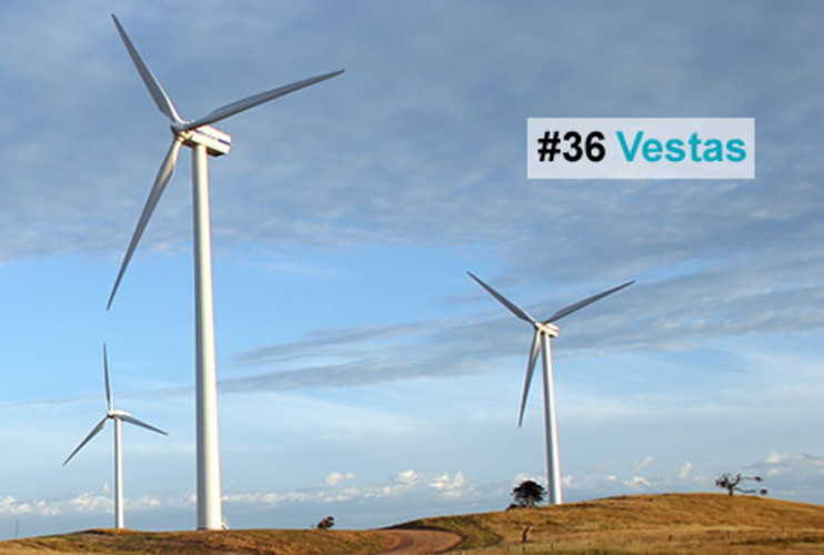 <p>This Danish wind-energy company, the largest in the world, installs a wind turbine every four hours. The turbines generate energy for little money, without creating greenhouse gases, pollution or waste. Vestas serves an estimated 45 million people in 63 countries. In Denmark, wind energy already accounts for 20 percent of the country's total energy consumption (compared with 1.3 percent worldwide) -- and on windy days, its 5,000 wind turbines supply all of the electricity. In the U.S., the company has already created more than 1,200 jobs, and by 2011, Vestas expects it will have created 4,000 more jobs.</p>  <p><a href=&quot;http://www.fastcompany.com/fast50_09/profile/list/vestas&quot; target=&quot;_new&quot; title=&quot;Vestas&quot;>-- Read the Full Profile</a></p>  <p><strong>The Fast Company 50 Navigation:</strong><br /> <a href=&quot;http://www.fastcompany.com/multimedia/slideshows/content/2009-fast-company-50.html?page=2&quot; title=&quot;Team Obama&quot;>01</a> | <a href=&quot;http://www.fastcompany.com/multimedia/slideshows/content/2009-fast-company-50.html?page=3&quot; title=&quot;Google&quot;>02</a> | <a href=&quot;http://www.fastcompany.com/multimedia/slideshows/content/2009-fast-company-50.html?page=4&quot; title=&quot;Hulu&quot;>03</a> | <a href=&quot;http://www.fastcompany.com/multimedia/slideshows/content/2009-fast-company-50.html?page=5&quot; title=&quot;Apple&quot;>04</a> | <a href=&quot;http://www.fastcompany.com/multimedia/slideshows/content/2009-fast-company-50.html?page=6&quot; title=&quot;Cisco Systems&quot;>05</a> | <a href=&quot;http://www.fastcompany.com/multimedia/slideshows/content/2009-fast-company-50.html?page=7&quot; title=&quot;Intel&quot;>06</a> | <a href=&quot;http://www.fastcompany.com/multimedia/slideshows/content/2009-fast-company-50.html?page=8&quot; title=&quot;Pure Digital Technologies&quot;>07</a> | <a href=&quot;http://www.fastcompany.com/multimedia/slideshows/content/2009-fast-company-50.html?page=9&quot; title=&quot;WuXi PharmaTech&quot;>08</a> | <a href=&quot;http://www.fastcompany.com/multimedia/slideshows/content/2009-fast-company-50.html?page=10&quot; title=&quot;Amazon&quot;>09</a> | <a href=&quot;http://www.fastcompany.com/multimedia/slideshows/content/2009-fast-company-50.html?page=11&quot; title=&quot;Ideo&quot;>10</a> <br /> <a href=&quot;http://www.fastcompany.com/multimedia/slideshows/content/2009-fast-company-50.html?page=12&quot; title=&quot;GE&quot;>11</a> | <a href=&quot;http://www.fastcompany.com/multimedia/slideshows/content/2009-fast-company-50.html?page=13&quot; title=&quot;Hewlett-Packard&quot;>12</a> | <a href=&quot;http://www.fastcompany.com/multimedia/slideshows/content/2009-fast-company-50.html?page=14&quot; title=&quot;Nokia&quot;>13</a> | <a href=&quot;http://www.fastcompany.com/multimedia/slideshows/content/2009-fast-company-50.html?page=15&quot; title=&quot;Gilead Sciences&quot;>14</a> | <a href=&quot;http://www.fastcompany.com/multimedia/slideshows/content/2009-fast-company-50.html?page=16&quot; title=&quot;Facebook&quot;>15</a> | <a href=&quot;http://www.fastcompany.com/multimedia/slideshows/content/2009-fast-company-50.html?page=17&quot; title=&quot;NextEra Energy Resources&quot;>16</a> | <a href=&quot;http://www.fastcompany.com/multimedia/slideshows/content/2009-fast-company-50.html?page=18&quot; title=&quot;Q-Cells&quot;>17</a> | <a href=&quot;http://www.fastcompany.com/multimedia/slideshows/content/2009-fast-company-50.html?page=19&quot; title=&quot;First Solar&quot;>18</a> | <a href=&quot;http://www.fastcompany.com/multimedia/slideshows/content/2009-fast-company-50.html?page=20&quot; title=&quot;IBM&quot;>19</a> | <a href=&quot;http://www.fastcompany.com/multimedia/slideshows/content/2009-fast-company-50.html?page=21&quot; title=&quot;Zappos&quot;>20</a> <br /> <a href=&quot;http://www.fastcompany.com/multimedia/slideshows/content/2009-fast-company-50.html?page=22&quot; title=&quot;Nintendo&quot;>21</a> | <a href=&quot;http://www.fastcompany.com/multimedia/slideshows/content/2009-fast-company-50.html?page=23&quot; title=&quot;Disney&quot;>22</a> | <a href=&quot;http://www.fastcompany.com/multimedia/slideshows/content/2009-fast-company-50.html?page=24&quot; title=&quot;Crispin Porter + Bogusky&quot;>23</a> | <a href=&quot;http://www.fastcompany.com/multimedia/slideshows/content/2009-fast-company-50.html?page=25&quot; title=&quot;TBWA\Worldwide&quot;>24</a> | <a href=&quot;http://www.fastcompany.com/multimedia/slideshows/content/2009-fast-company-50.html?page=26&quot; title=&quot;New England Sports Ventures&quot;>25</a> | <a href=&quot;http://www.fastcompany.com/multimedia/slideshows/content/2009-fast-company-50.html?page=27&quot; title=&quot;DSM&quot;>26</a> | <a href=&quot;http://www.fastcompany.com/multimedia/slideshows/content/2009-fast-company-50.html?page=28&quot; title=&quot;Nike&quot;>27</a> | <a href=&quot;http://www.fastcompany.com/multimedia/slideshows/content/2009-fast-company-50.html?page=29&quot; title=&quot;NPR&quot;>28</a> | <a href=&quot;http://www.fastcompany.com/multimedia/slideshows/content/2009-fast-company-50.html?page=30&quot; title=&quot;Barbarian Group&quot;>29</a> | <a href=&quot;http://www.fastcompany.com/multimedia/slideshows/content/2009-fast-company-50.html?page=31&quot; title=&quot;W.L. Gore & Associates&quot;>30</a> <br /> <a href=&quot;http://www.fastcompany.com/multimedia/slideshows/content/2009-fast-company-50.html?page=32&quot; title=&quot;Busboy Productions&quot;>31</a> | <a href=&quot;http://www.fastcompany.com/multimedia/slideshows/content/2009-fast-company-50.html?page=33&quot; title=&quot;Skidmore, Owings & Merrill&quot;>32</a> | <a href=&quot;http://www.fastcompany.com/multimedia/slideshows/content/2009-fast-company-50.html?page=34&quot; title=&quot;Wal-Mart&quot;>33</a> | <a href=&quot;http://www.fastcompany.com/multimedia/slideshows/content/2009-fast-company-50.html?page=35&quot; title=&quot;Microsoft&quot;>34</a> | <a href=&quot;http://www.fastcompany.com/multimedia/slideshows/content/2009-fast-company-50.html?page=36&quot; title=&quot;Ubisoft&quot;>35</a> | <a href=&quot;http://www.fastcompany.com/multimedia/slideshows/content/2009-fast-company-50.html?page=37&quot; title=&quot;Vestas&quot;>36</a> | <a href=&quot;http://www.fastcompany.com/multimedia/slideshows/content/2009-fast-company-50.html?page=38&quot; title=&quot;Chevron Energy Solutions&quot;>37</a> | <a href=&quot;http://www.fastcompany.com/multimedia/slideshows/content/2009-fast-company-50.html?page=39&quot; title=&quot;CAA&quot;>38</a> | <a href=&quot;http://www.fastcompany.com/multimedia/slideshows/content/2009-fast-company-50.html?page=40&quot; title=&quot;L-3 Communications&quot;>39</a> | <a href=&quot;http://www.fastcompany.com/multimedia/slideshows/content/2009-fast-company-50.html?page=41&quot; title=&quot;Weta Digital&quot;>40</a> <br /> <a href=&quot;http://www.fastcompany.com/multimedia/slideshows/content/2009-fast-company-50.html?page=42&quot; title=&quot;Lego&quot;>41</a> | <a href=&quot;http://www.fastcompany.com/multimedia/slideshows/content/2009-fast-company-50.html?page=43&quot; title=&quot;Emirates&quot;>42</a> | <a href=&quot;http://www.fastcompany.com/multimedia/slideshows/content/2009-fast-company-50.html?page=44&quot; title=&quot;Genzyme&quot;>43</a> | <a href=&quot;http://www.fastcompany.com/multimedia/slideshows/content/2009-fast-company-50.html?page=45 title=&quot;Etsy&quot;>44</a> | <a href=&quot;http://www.fastcompany.com/multimedia/slideshows/content/2009-fast-company-50.html?page=46&quot; title=&quot;BYD&quot;>45</a> | <a href=&quot;http://www.fastcompany.com/multimedia/slideshows/content/2009-fast-company-50.html?page=47&quot; title=&quot;Warner Music Group&quot;>46</a> | <a href=&quot;http://www.fastcompany.com/multimedia/slideshows/content/2009-fast-company-50.html?page=48&quot; title=&quot;Aravind Eye Care System&quot;>47</a> | <a href=&quot;http://www.fastcompany.com/multimedia/slideshows/content/2009-fast-company-50.html?page=49&quot; title=&quot;Toyota&quot;>48</a> | <a href=&quot;http://www.fastcompany.com/multimedia/slideshows/content/2009-fast-company-50.html?page=50&quot; title=&quot;Pelamis Wave Power&quot;>49</a> | <a href=&quot;http://www.fastcompany.com/multimedia/slideshows/content/2009-fast-company-50.html?page=51&quot; title=&quot;Raser Technologies&quot;>50</a></p>