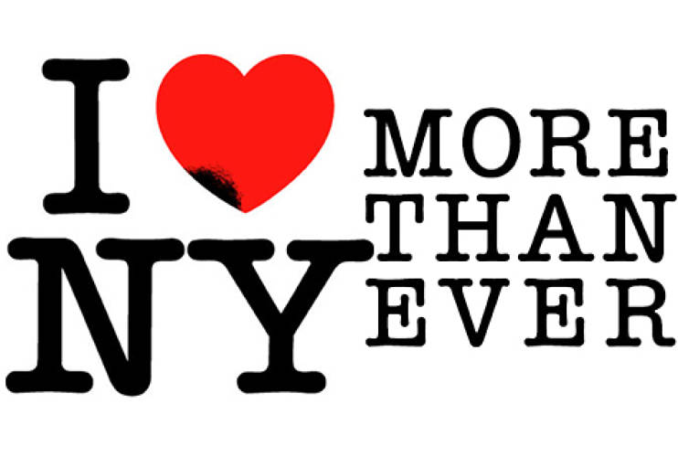 <p> I Heart NY More Than Ever<br /> After the 2001 terrorist attacks, Glaser revisited his own iconic logo to provide yet another swell of emotion and support for a devastated New York City.</p>
