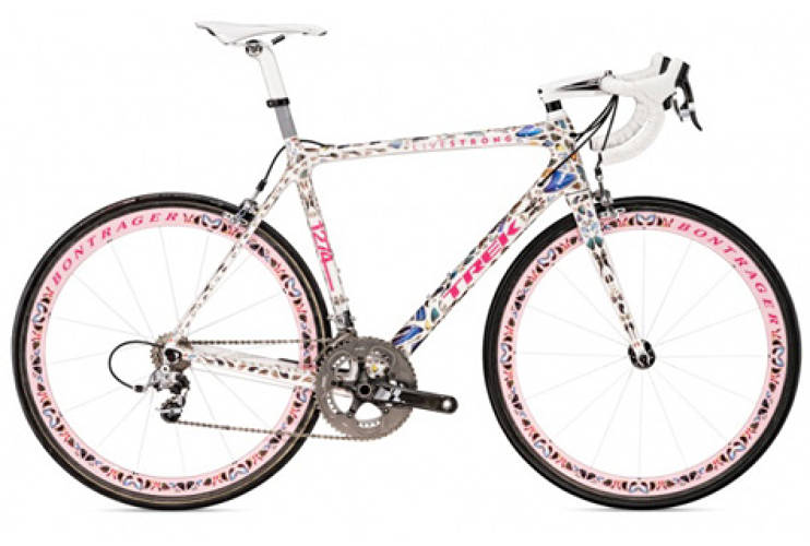 <p>Armstrong took his third place victory on this Damien Hirst designed Trek Madone with real butterflies along the frame all the way down to its Bontrager rims. Other artists who are partaking in Armstrong's Livestrong and Nike Collaborative exhibit include <em>Fast Company</em>'s Most Creative Person, <a href=&quot;http://www.fastcompany.com/100/2009/brian-donnelly-kaws&quot; target=&quot;_new&quot;>KAWS AKA Brian Donnelly</a>, Shepard Fairey, and Yoshitomo Nara. <br /> <a href=&quot;http://www.trekbikes.com&quot; target=&quot;_new&quot;>Trek Bikes</a> </p>