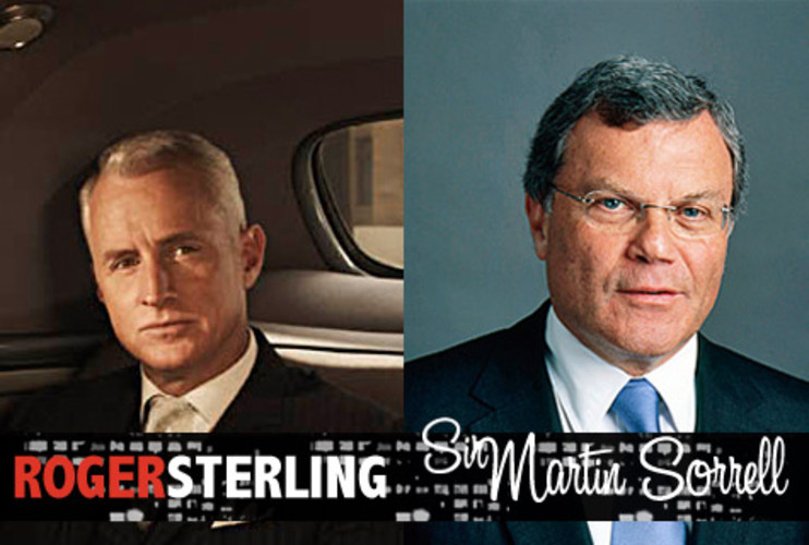 <p>Sir Martin Sorrell may not have the weak heart of Roger Sterling when it comes to arteries or women, but he certainly has the same ruthless love of numbers. WPP Group started as a shopping-basket manufacturer, until CEO Sorrell stormed the ad industry with a few hostile takeovers, a vicious temper, and arguably the largest incentive package in British corporate history to create the second largest ad company in the world. </p>