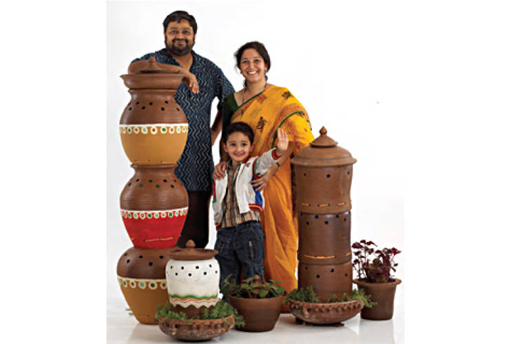 <p>To address the waste issues of Bangalore, India, designer Poonam Bir Kasturi created <a href=&quot;http://www.dailydump.org&quot;>Daily Dump</a>, a one-stop shop for pots, tools, and services that delivers the benefits of aerobic composting to homes throughout India. Users of the system purchase the earthenware pots from a wide selection: single or stacked, unpainted or painted, individual or family capacity, indoor or outdoor, and even compost-and-plant pots. Customers can buy any combination of the vessels, along with tools and instruction material, to personalize the composting system for their needs. <strong>Price:</strong>$2.50-$25</p>