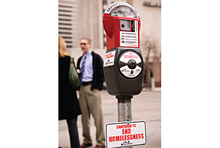 "<p><strong>Donation Meter Program</strong> </p> <p> The <a href=&quot;http://www.denversroadhome.com&quot;>The Donation Meter Program</a> program uses nonfunctioning parking meters as donation ""piggy banks,"" where individuals can deposit spare change. The city of Denver conceived of the program to serve as a middleman between donations and aid from Denver citizens to the homeless. The collections go directly to the Mile High United Way to fund predetermined programs to benefit the homeless population. Within the first month of the program's implementation in March 2007, 16,411 coins totaling $2,000 had been collected.  The organizers anticipate $100,000 in yearly coin contributions and sponsorships from this program.</p>"