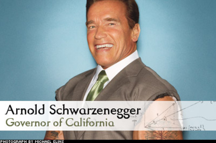 <p> The former Mr. Universe is flexing his muscle as governor, incentivizing business to solve climate change. One such move is the Global Warming Solutions Act, requiring companies to reduce greenhouse-gas emissions by 25%. &quot;We get a lot more done when we create a great partnership to tackle problems,&quot; states Governor Schwarzenegger.<br /> <a href=&quot;/fast50_07/the-germinator.html&quot; target=&quot;_blank&quot;>Learn More</a> </p>