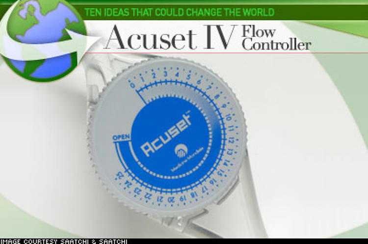 <p> Acuset provides a cheap and precise alternative to the $2,000 microprocessor-controlled syringe pumps that are used to ensure accurate and safe medicine and re-hydration fluid delivery by intravenous infusion in the first world. Because about 2.5 billion IV sets are used annually throughout the developing world -- and when administering potent drugs even a 3mm mistake can be fatal – the $6 controller could save millions of lives. </p>