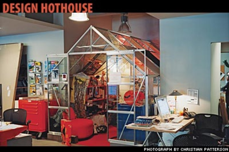 <p>In Fenhagen's own studio, designers are housed in individual greenhouses within a Manhattan high-rise. They're little &quot;idea incubators,&quot; he says.</p>